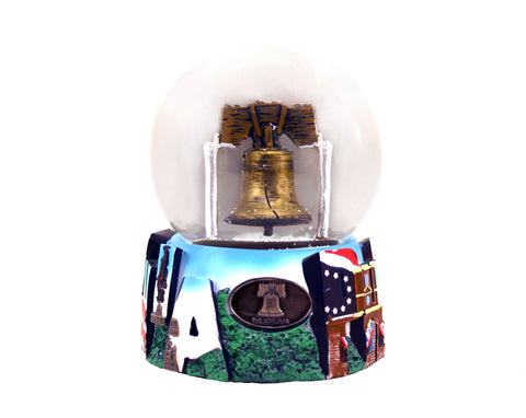 "Liberty Bell Large Musical 100 mm Snow Globe 4"" x 5"""