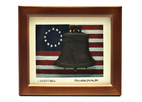 Liberty Bell & Colonial Flag Frame
