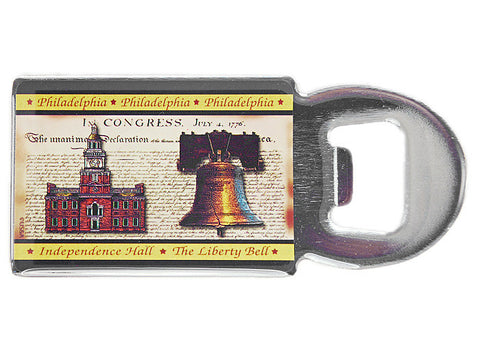 Liberty Bell & Independence Hall Bottle Opener Magnet
