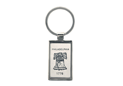 Liberty Bell Etched Metal Keychain (B)