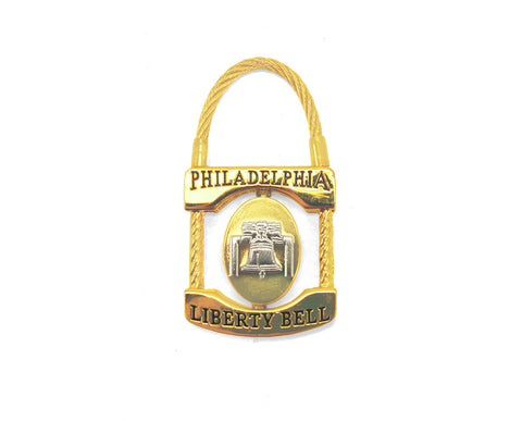 Liberty Bell & Independence Hall Lock Keychain