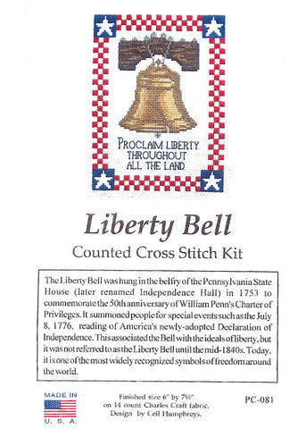 Liberty Bell Cross Stitch