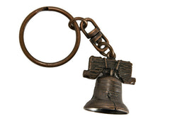 Mini Liberty Bell Keychain Copper Finished