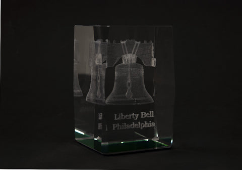 Liberty Bell Cube Paper Weight (A)