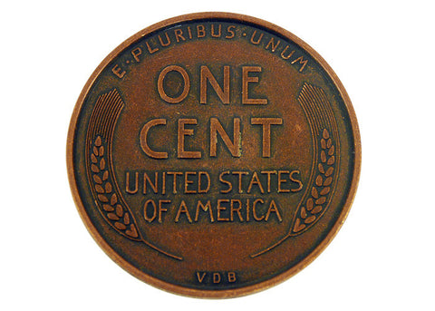 1909 Wheat Penny Jumbo Coin 3""