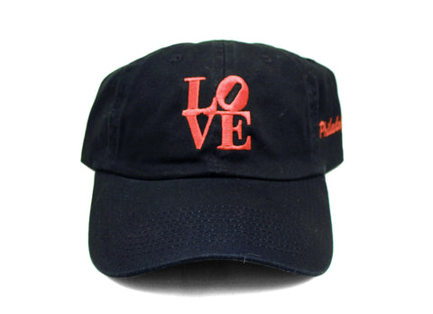 LOVE Philadelphia Black Adjustable Cap #B
