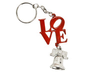LOVE & Liberty Bell Dangle Keychain  ( 2 colors)