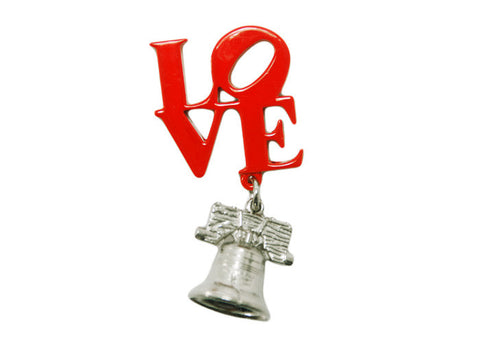 LOVE & Liberty Bell Dangle Magnet