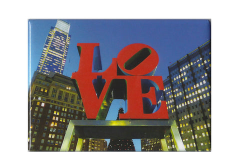 Philadelphia LOVE Statue at Night Magnet