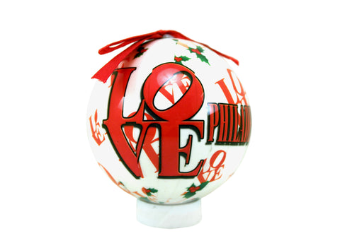 LOVE Collage 80 mm Ball Ornament