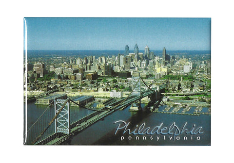 Philadelphia Cityscape & Ben Franklin Bridge Magnet