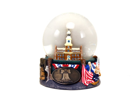 Philadelphia Independence Hall Medium Snow Globe