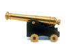"24 Pounder Naval Cannon with Rolling Wheels 5-1/2"" Long"