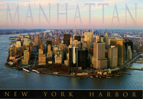 New York City Manhattan Harbor Postcard