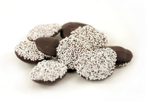 Asher's Nonpareils Dark Chocolates (White Seed)