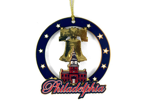 Philadelphia Ind. Hall & Liberty Bell Ornament