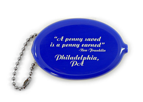 Penny Saver Coin Holder Keychain