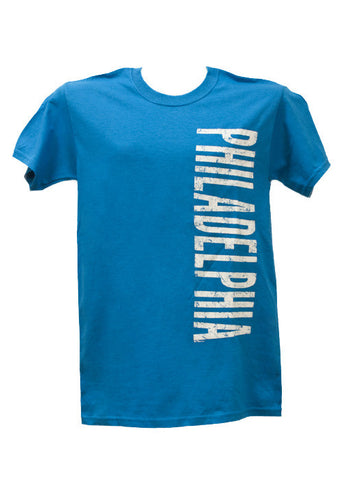 Philadelphia Vertical Design Adult T-Shirt  (10 Colors Available)