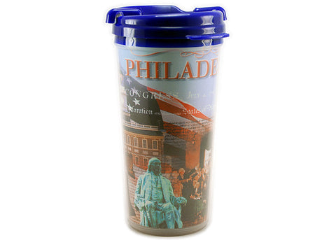 Philadelphia Collage Traveler Mug