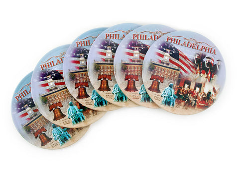 Philadelphia Collage Coasters (6-Pack)