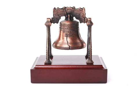 Liberty Bell On Wooden Base
