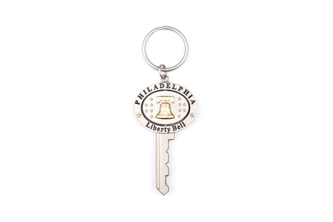 Liberty Bell Pewter Swivel Keychain
