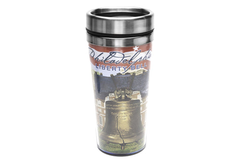 Philadelphia Liberty Bell Stainless Steel/Plastic Travel Mug