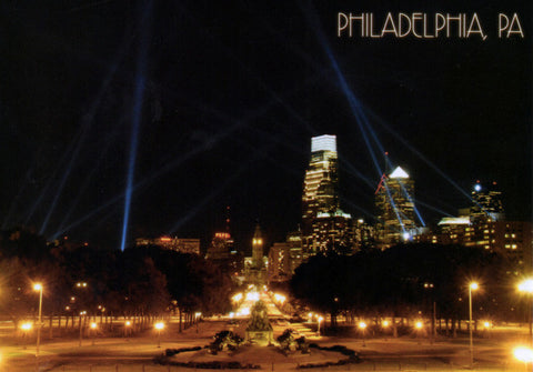 Philadelphia Open Air Skyline Postcard