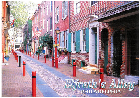 Philadelphia Elfreth's Alley Postcard (A)