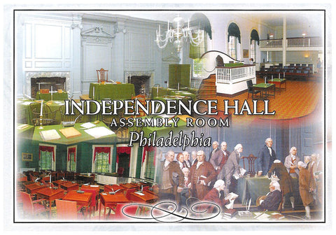 Philadelphia Independence Hall Assembly Room Postcard
