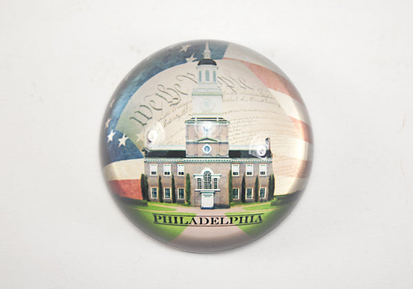 Philadelphia Independence Hall Paper Weight  Dome