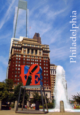 Philadelphia Love Park &  Comcast Center Postcard