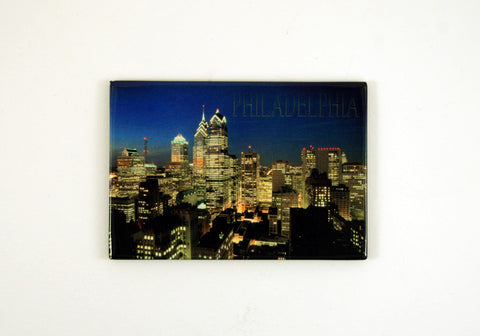 Philadelphia Night Skyline Magnet