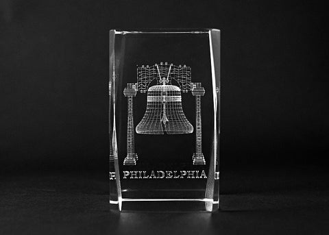 Liberty Bell Cube Paper Weight (B)