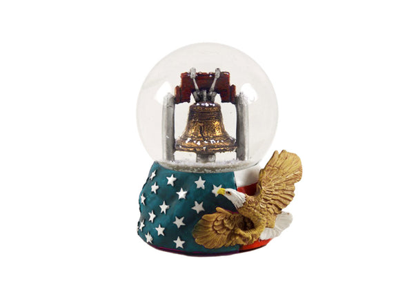 Philadelphia Liberty Bell with Eagle Snow Globe 45mm