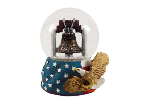 Philadelphia Liberty Bell & Eagle Snow Globe 65mm