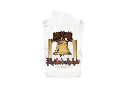 Philadelphia Liberty Bell Square Shot Glass