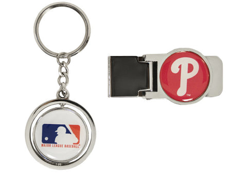 Philadelphia Phillies Spinning Keychain & Money Clip Set