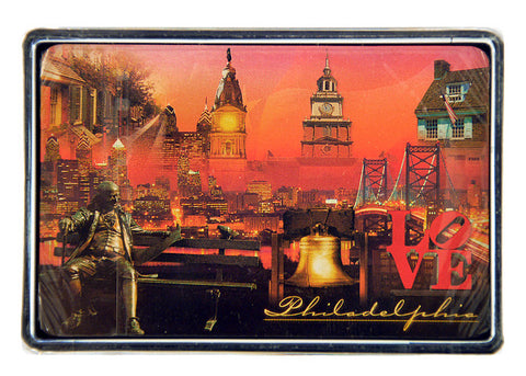 Philadelphia  Historical Site Sunset Playing Cards