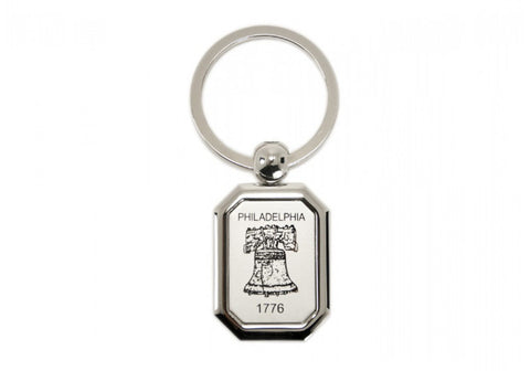 Liberty Bell Etched Metal Keychain (A)