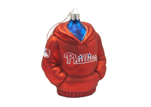 Phillies Glass Hoodie Ornament