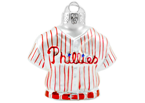 Phillies Glass Jersey Ornament