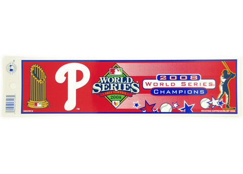 Philadelphia Phillies World Series Bumper Sticker