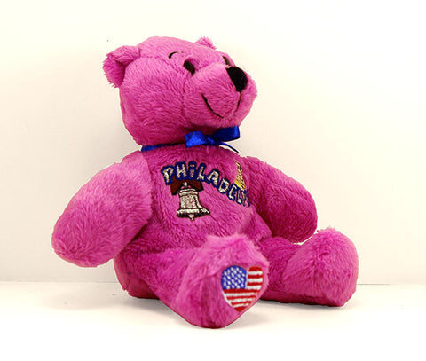 Philadelphia Plush Teddy Bear in Pink