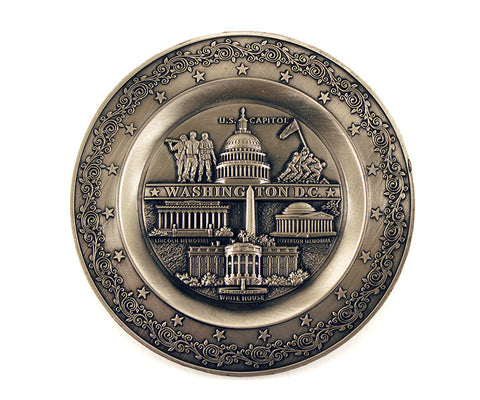 Washington D.C. Pewter-finished Plate