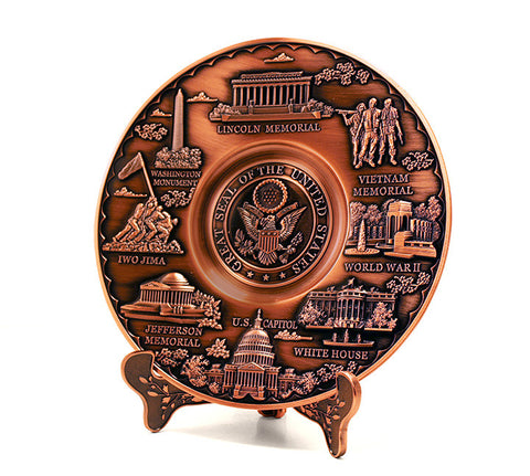 Washington D.C. Copper-Finished Plate 6 1/2""