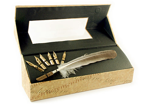 Feather Quill Pen Set