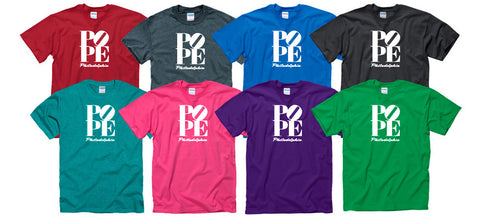 Pope Philadelphia Adult T-shirts (Multiple colors!)