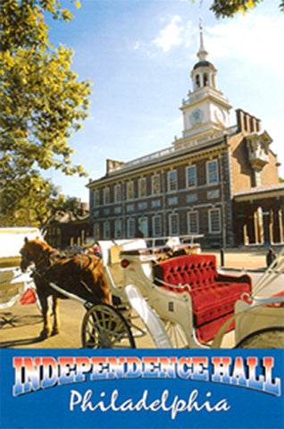 Independence Hall & Carriage Postcard
