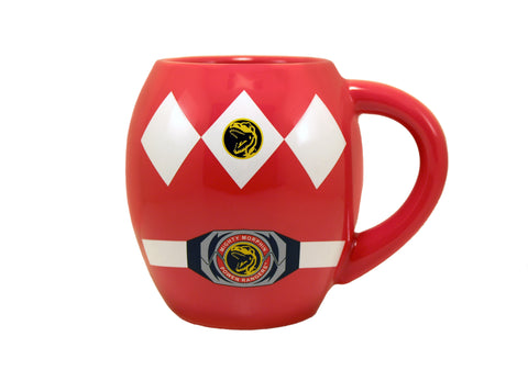 Mighty Morphing Power Rangers Red 18 oz Oval Mug